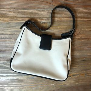 Coach Hamptons Ivory and Black Handbag